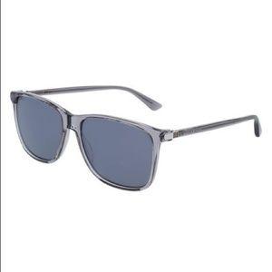 Men's grey Gucci polarized sunglasses